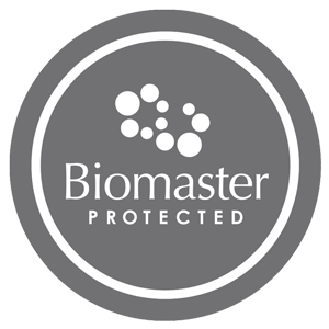 Dit product is geïmpregneerd met Biomaster® Antimicrobial Silver Ion technologie (puur zilver)